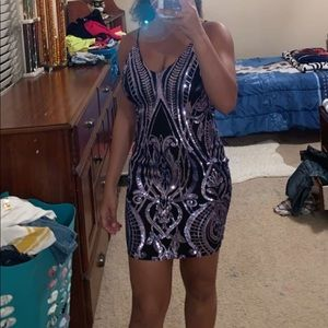 Dresses & Skirts - Black & Purple Formal Dress (3/$22)